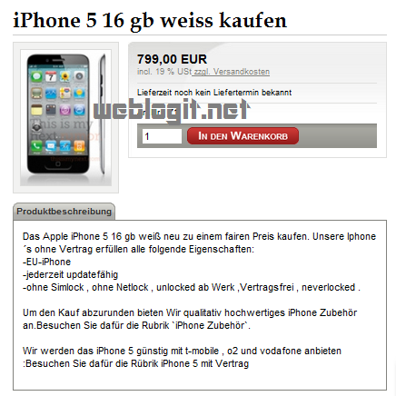 iPhone 5 in weiss