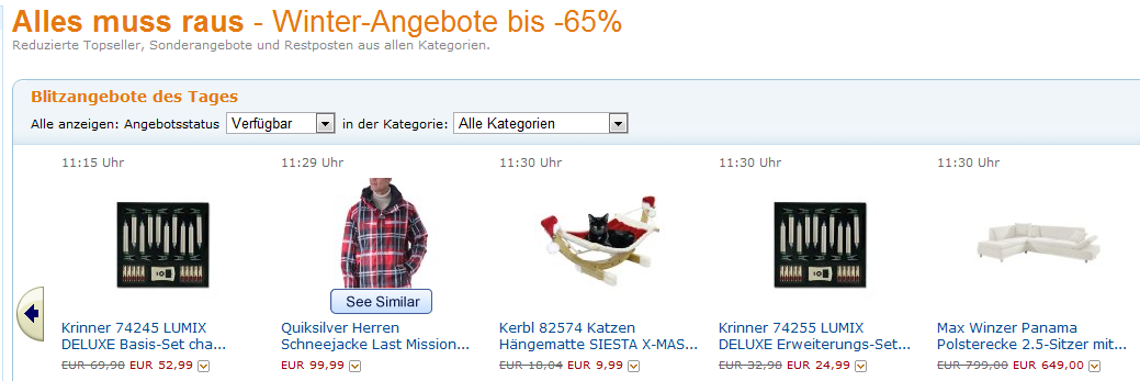 Amazon Cyber Monday 19.12.2011 - Alles muss raus