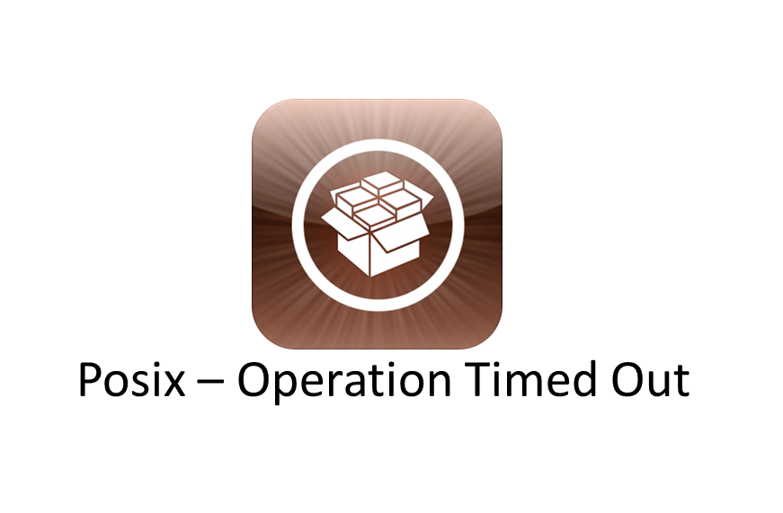 Cydia-Server - Posix Operation Timed out