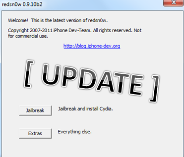 Redsn0w 0.9.10b3 Download - Update