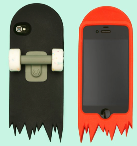iPhone Case Skate Deck black and red