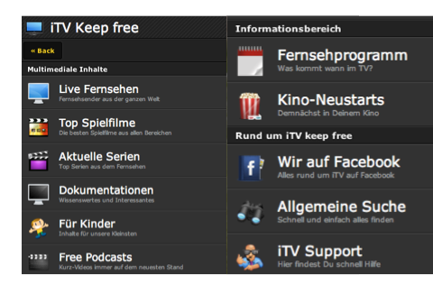 iTV Keep free - New Design Screen