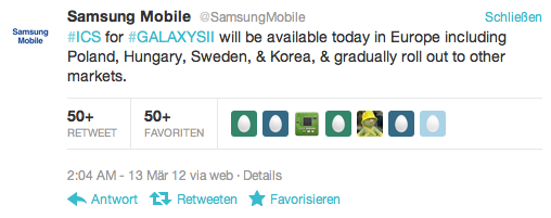 Android 4.0 ICS in Europa