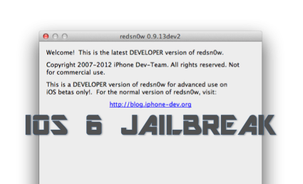 iOS 6 Beta 2 Jailbreak mit Redsn0w 0.9.13dev2