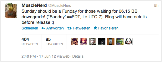 sunday its Funday Downgrade Baseband 06.15.00: MuscleNerd kündigt Release in den nächsten Stunden an