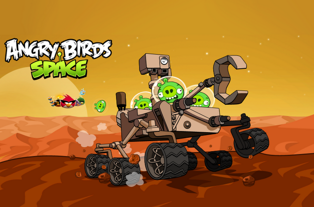 Angry Birds Space Curiosity Curiosity findet Angry Birds auf dem Mars: komplettes Game im Herbst (Video)