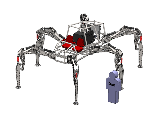 Project Hexapod: Stompy, der 2000 kg Spinnenroboter