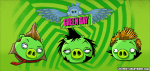 angry birds 300x143 Green Day als Eierdiebe bei den Angry Birds
