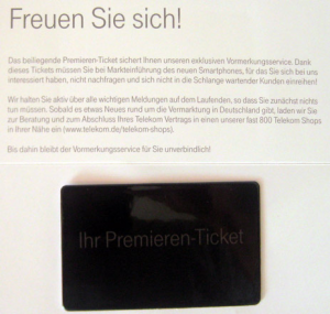 iPhone 5-Premieren-Ticket-ifun