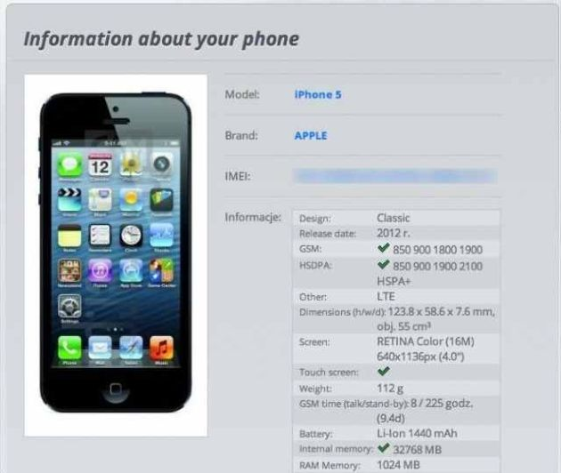 iphone 6s Plus imei kontrollieren