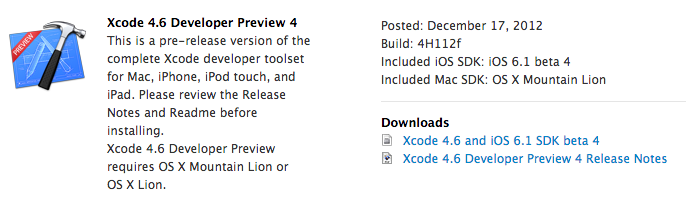 xcode4.6-preview4