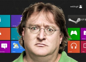gabe newell windows 8 steam ces 2013 300x216 Erstes Eyes On: So sehen Valve´s Steam Box Prototypen aus + Gabe Newell Interview