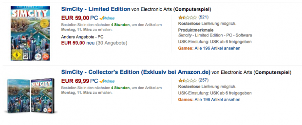 SimCity 5 auf Amazon