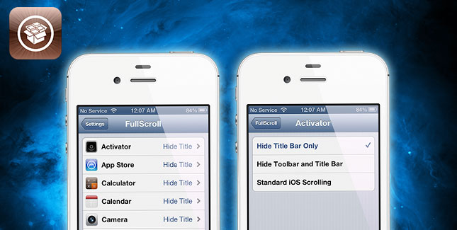 FullScroll: Cydia Tweak blendet Titelleiste in allen Apps aus