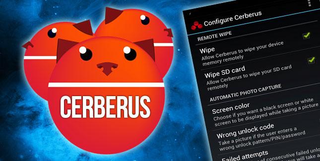 Anti – Diebstahl – Tool Cerberus für Android kostenlos