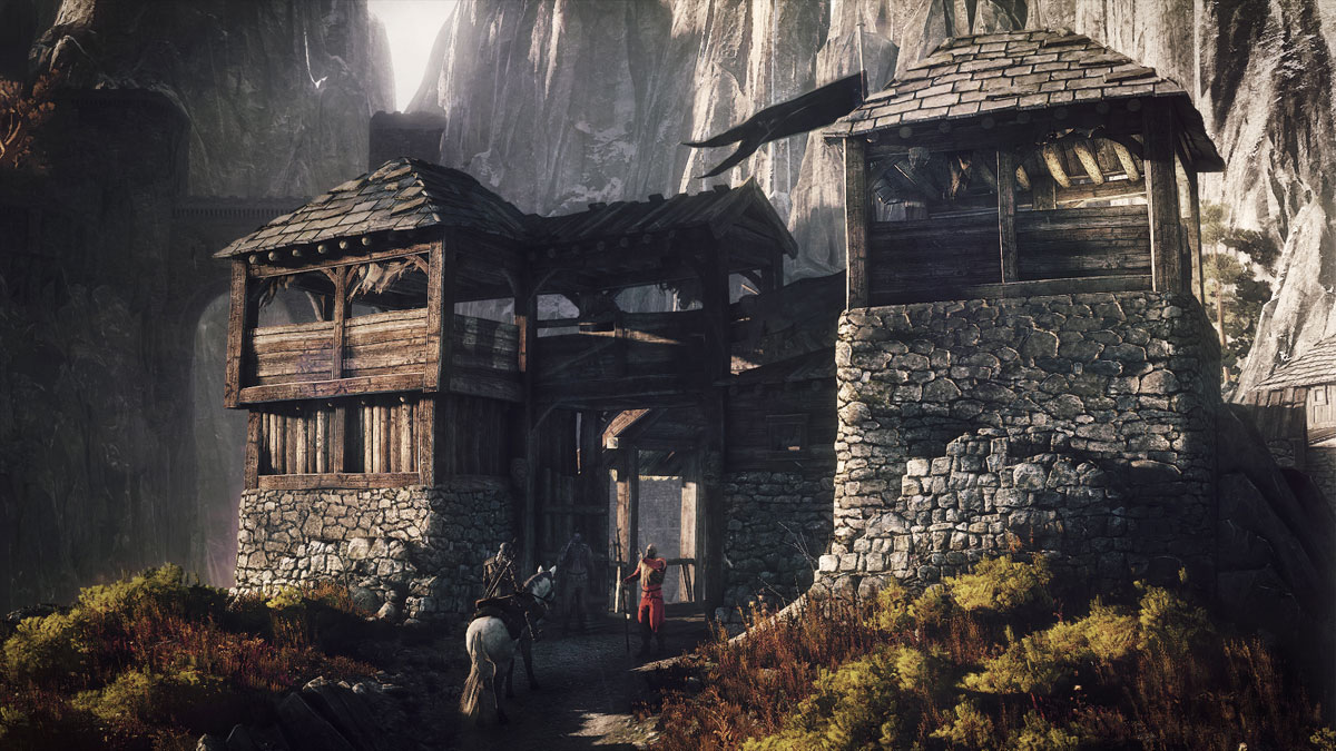 The_Witcher_3_Wild_Hunt_Geralt_stops_at_an_outpost_near_Kaer_Trolde