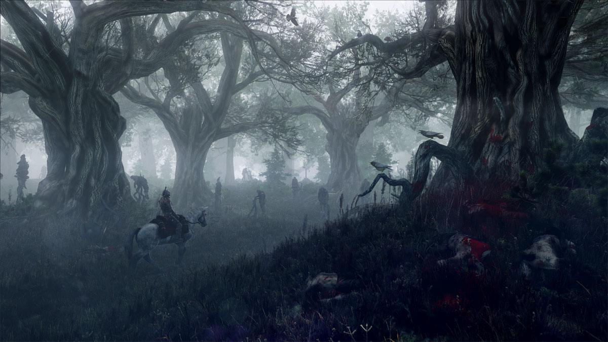 The_Witcher_3_Wild_Hunt_Geralt_travels_through_the_leshen's_domain