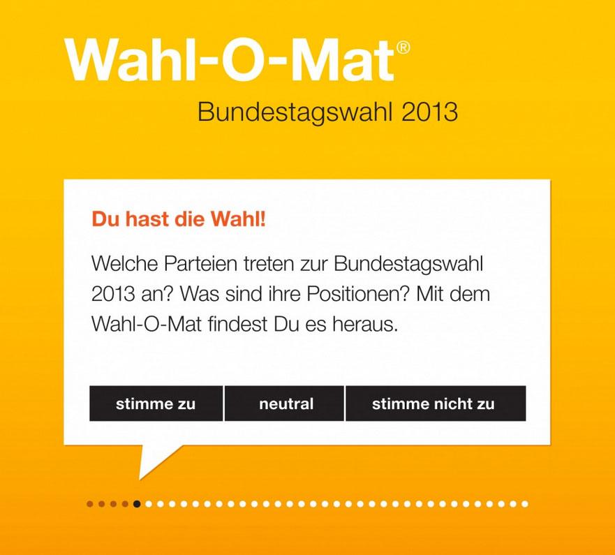 Wahl O Mat Banner Welche Partei wählen? Wahl O Mat schafft Abhilfe!