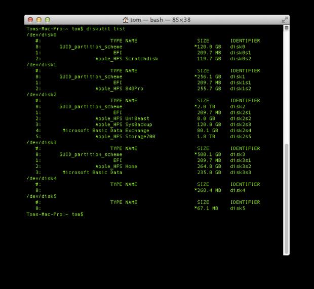 diskutil list vorher 620x571 ISO und IMG Image Dateien bootbar auf USB Stick kopieren (Mac OS X)