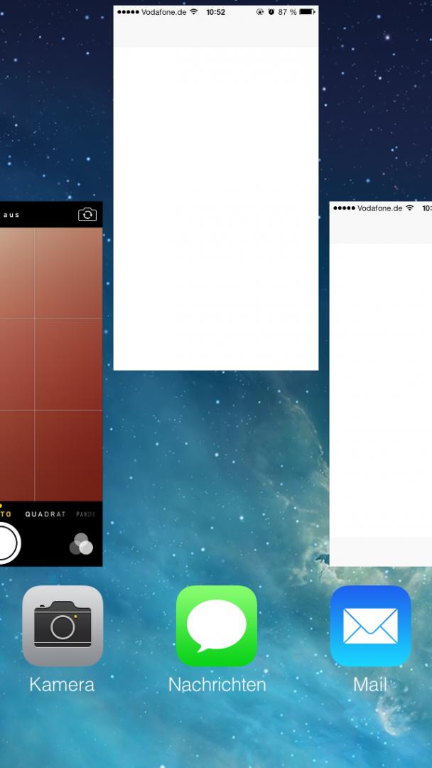 Ungenutzte Apps beenden. Außerdem: Reboot tut gut!