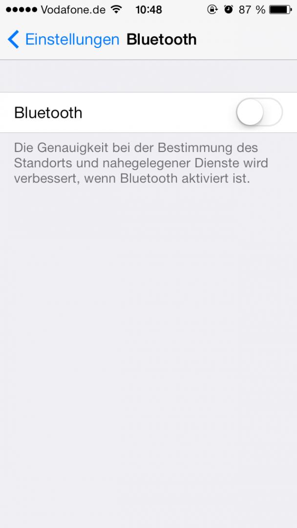 Bluetooth ebenso nur bei Gebrauch aktivieren.
