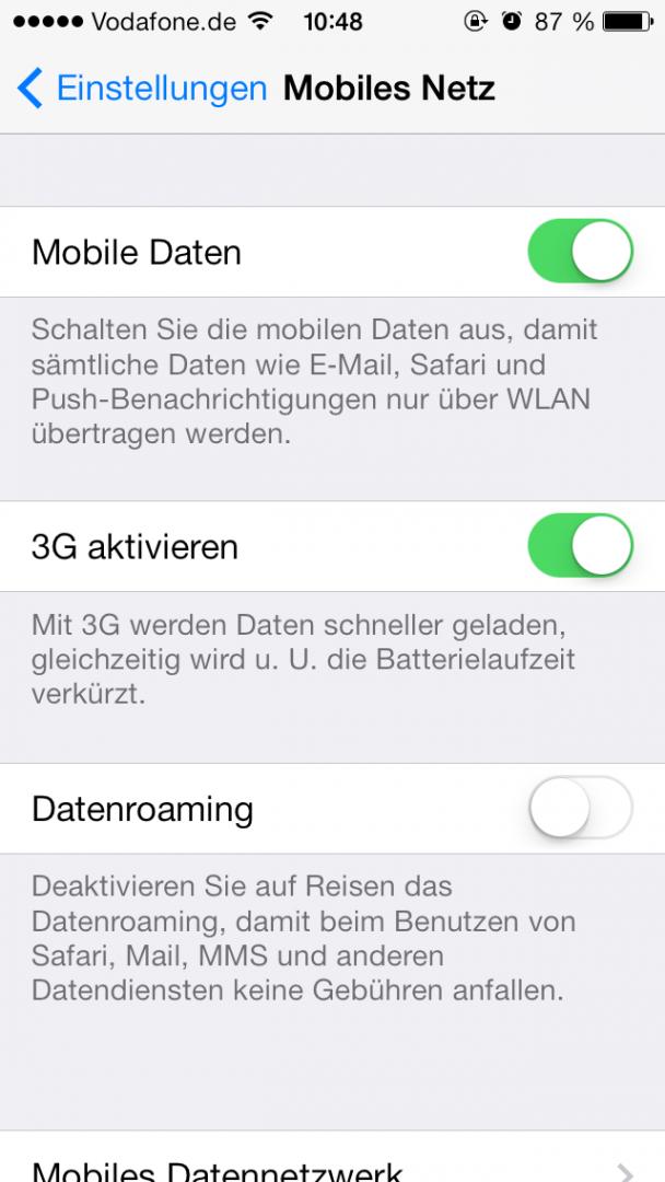 Mobile Daten deaktivieren, falls nicht ständig benötigt. Selbiges gilt für WLAN!