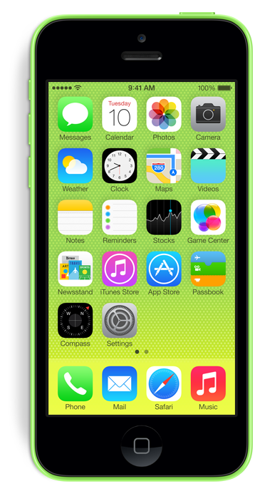 Das iPhone 5c in grün