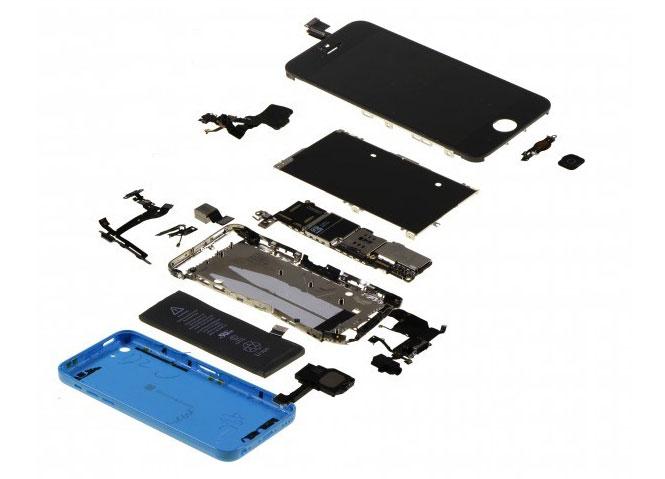 iPhone-5c-Bauteile
