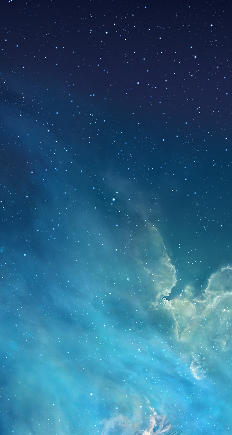 nebula iOS 7 Wallpaper heute schon nutzen: Download