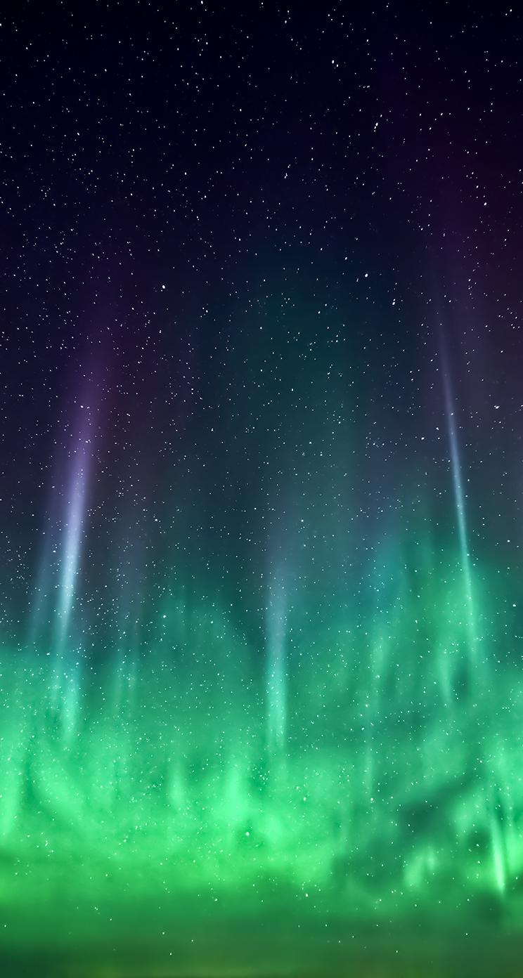 nordlichter iOS 7 Wallpaper heute schon nutzen: Download