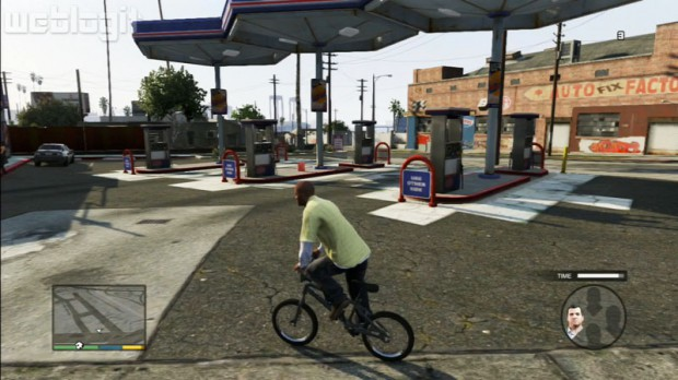 Franklin auf einem Bike