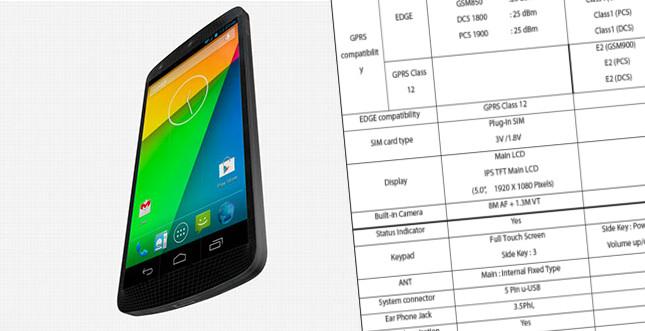 Leak: Das offizielle Handbuch vom Nexus 5 mit allen Daten