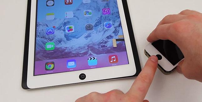 Neues iPad 5 mit biometrischem Fingerabdruckscanner