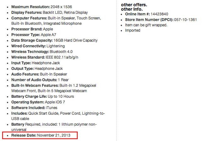 iPad-mini-Release-Datum-Target