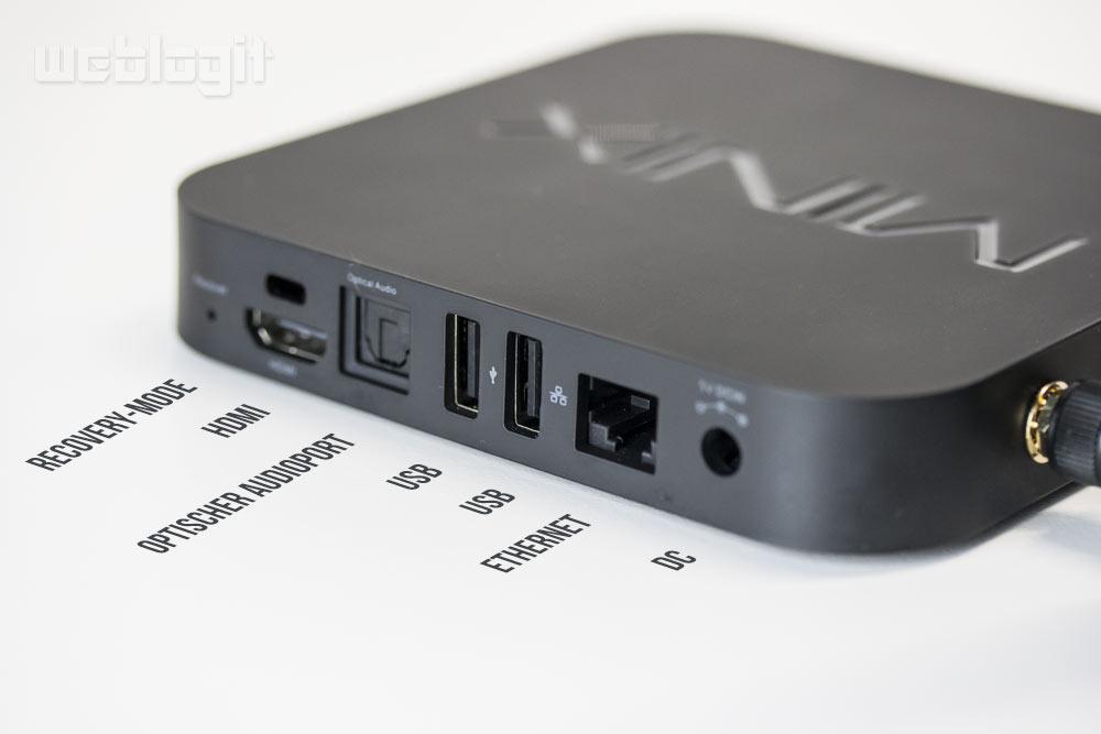 MINIX Neo X7 - Ports