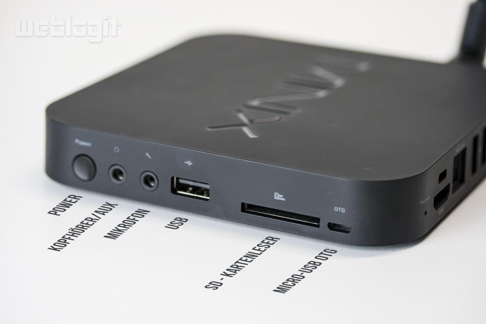 MINIX Neo X7 - seitliche Ports