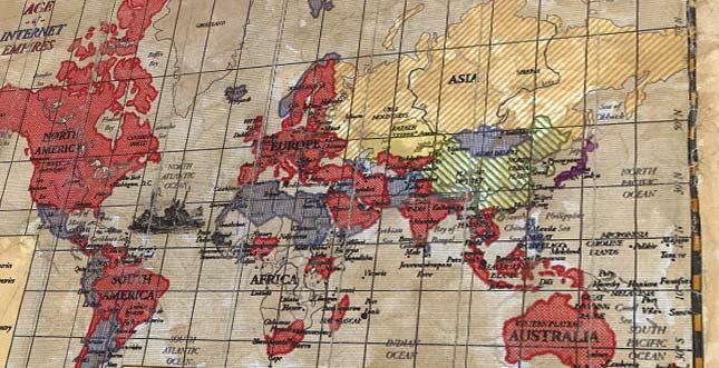 Weltkarten des Internets: Statistiken pro Land