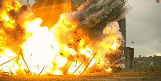 Explosive Slow Motion Aufnahmen mit 2.500 fps
