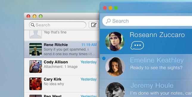 iMessage für den Mac im iOS 7 Look (Konzept)