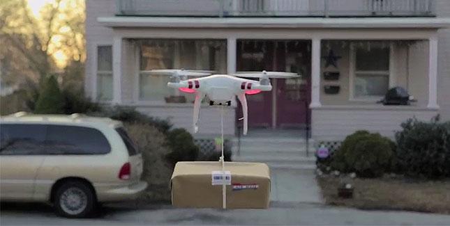 Drohnen-Landeplatz im heimischen Garten: Werbegag