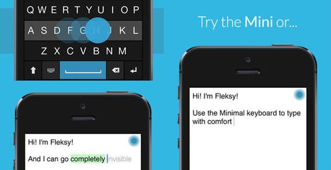 Fleksy: Alternative Tastatur für iOS-Apps