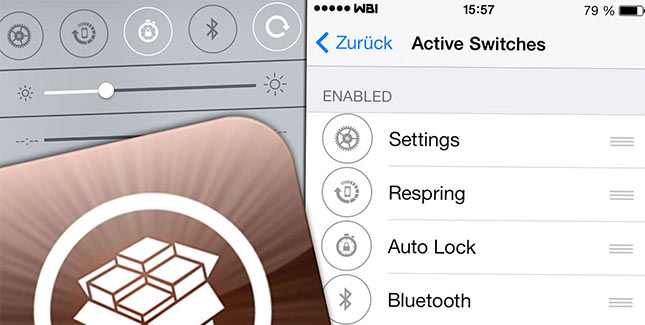 iOS 7 Control Center Cydia Tweak: Toggles ändern & anpassen