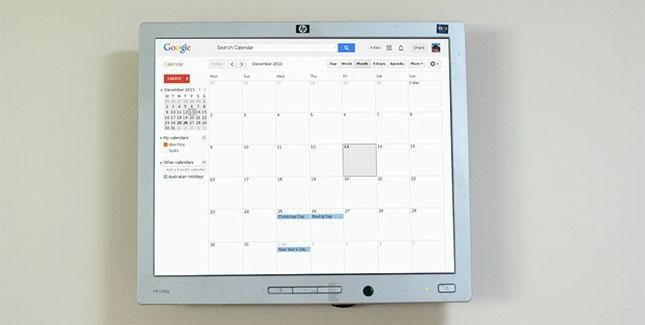 raspberry pi hack google wandkalender in der k che l weblogit. Black Bedroom Furniture Sets. Home Design Ideas