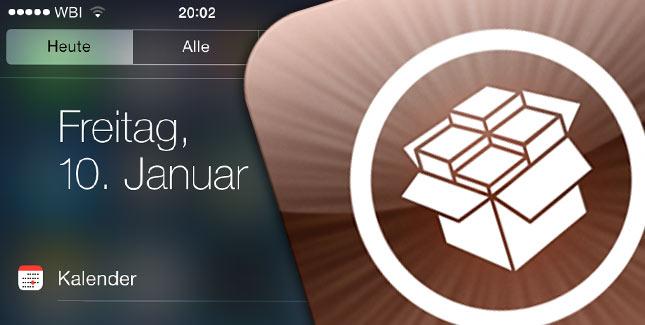 NCObey für iOS 7: Aufwertung für das Notification Center