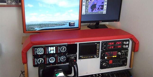 Nachbau eines Cessna 172 Cockpits mit Flight Simulator X