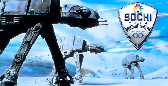 Olympia in Sochi vs. AT-AT aus Star Wars