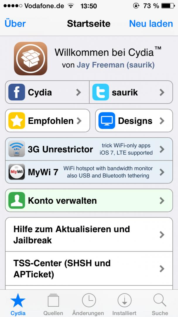 Cydia 1.1.12
