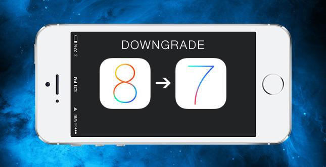 Letzte Chance? iOS 8 Downgrade zu iOS 7.1.2