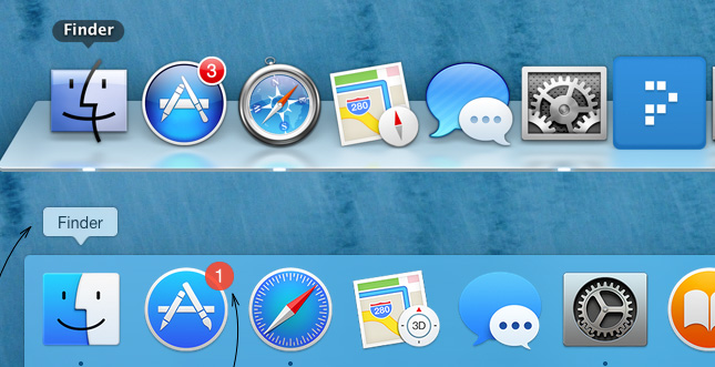Neues Design von Mac OS X Yosemite unter der Lupe