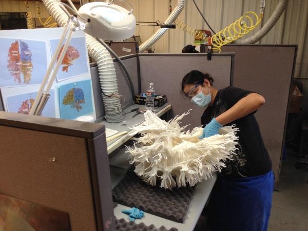 manuelle Bearbeitung des 3D Drucks